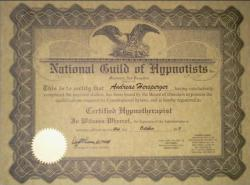 NGH Certivicate Hypnotherapist