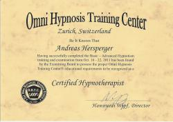 O.H.T.C  Certified Hypnotherapist