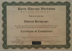 Certivicate of Completation - Parts Therapie